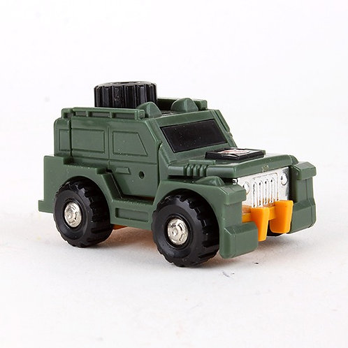 Brawn - Vintage 1984 G1 Transformers Mini Car / Robot - Hasbro / Takara