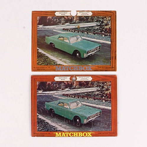 Lincoln Continental #31 - Vintage 1969 Frame Tray Puzzle - Matchbox