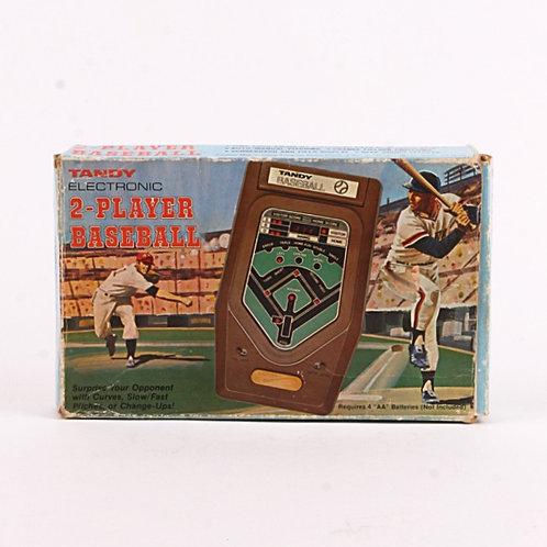 2 Player Baseball - Vintage 1981 Electronic Handheld Sports Game - Tandy