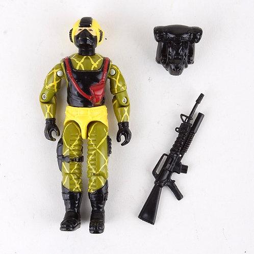 Python Copperhead - Vintage 1989 G.I. Joe Python Patrol Action Figure - Hasbro