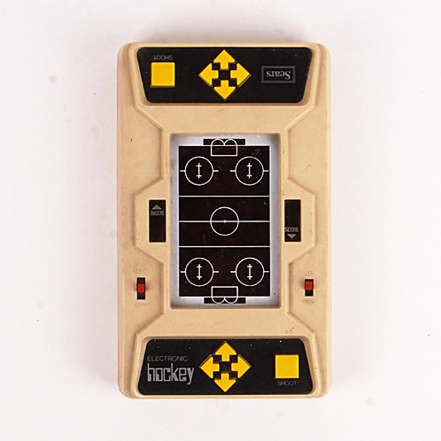 Hockey Offense Defense - Vintage 1980 Electronic Handheld Sports Game - Sears
