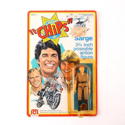 Sarge - Vintage 1977 CHiPs - Action Figure - Mego