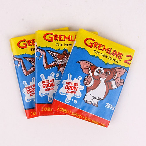 3 Packs - Classic 1990 Gremlins 2 The New Batch Trading Cards - Topps