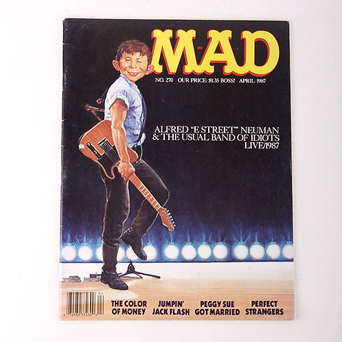 Mad Magazine - Vintage April 1987 # 270 - The Color of Money - Bruce Springsteen