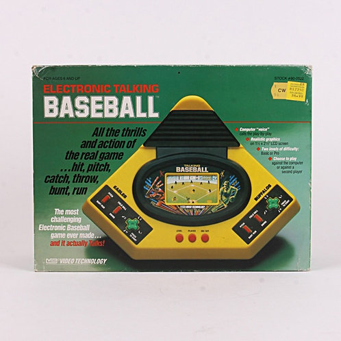 Baseball - Vintage 1987 Electronic Talking Handheld Sports Game - Vtech