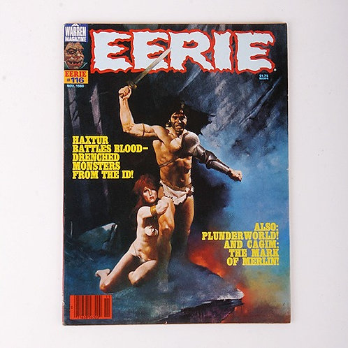 Eerie Magazine - Vintage Nov 1980 #116 - Haxtur