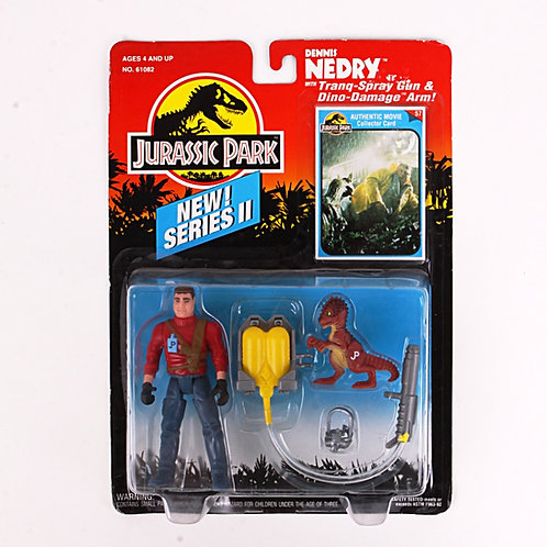 Dennis Nedry - Classic 1993 Jurassic Park - Kenner Action Figure
