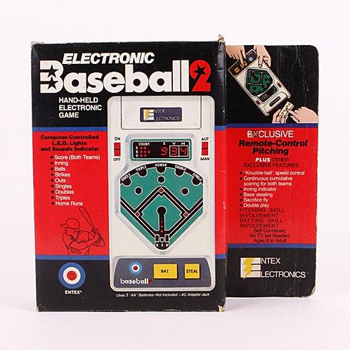 Baseball 2 - Vintage 1979 Handheld Electronic Sports Game - Entex