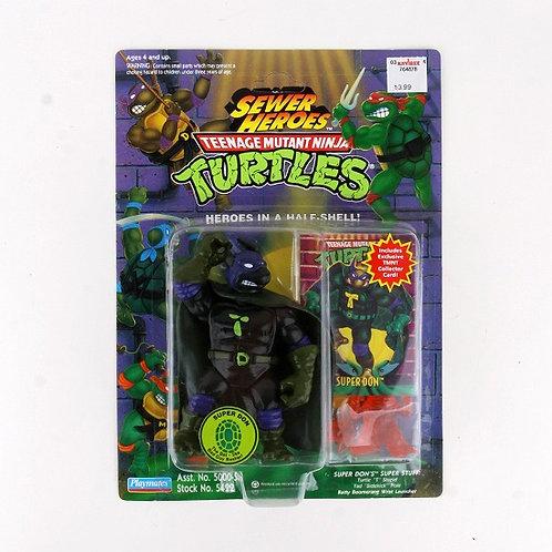 Super Don - 1993 Teenage Mutant Ninja Turtles Sewer Heroes Figure - Playmates