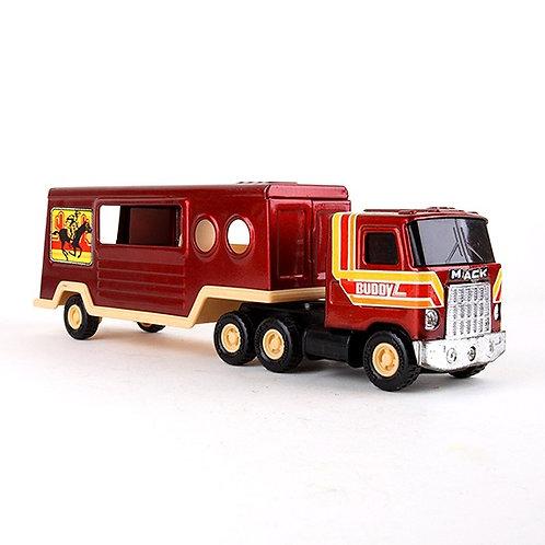 Mack Truck - Vintage 1980 Semi Truck & Horse Trailer - Buddy L