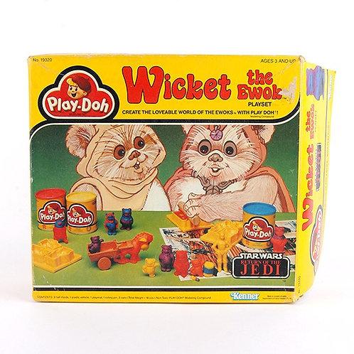 Wicket the Ewok - Vintage 1983 Star Wars Play-Doh Playset - Kenner
