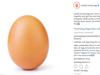 How A Picture of An Egg on Instagram Got 45.6 Million Likes