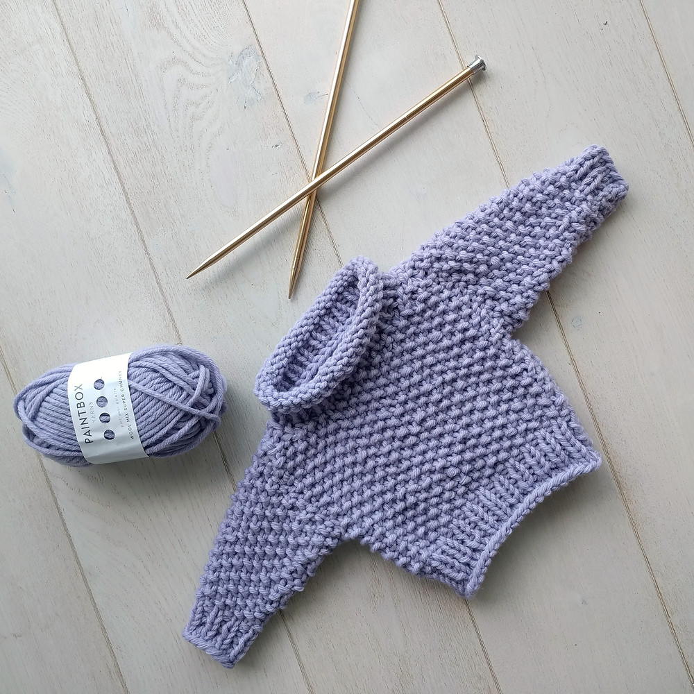 The Little Chunky - Free Knit Baby Sweater Pattern