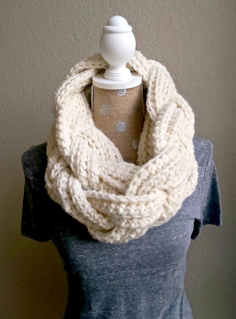 Braided Infinity Scarf The Snugglery Knitting And