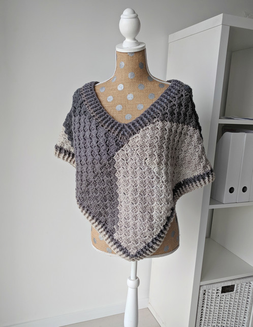 Crochet Poncho Pattern - Corner to Corner Poncho with Caron Big Cakes