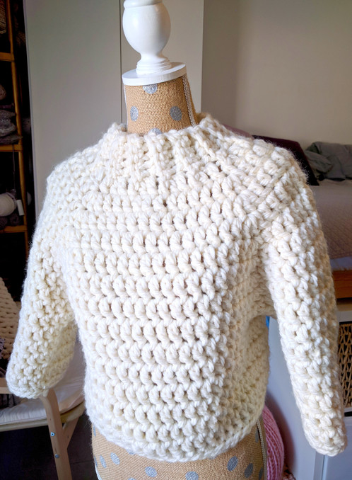 Chunky Cropped Raglan Sweater Crochet Sweater Pattern