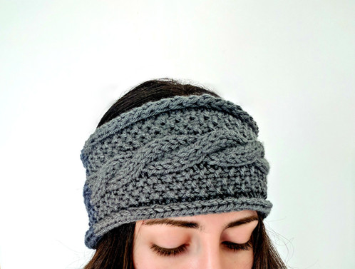 Seeds And Cables Ear Warmer Cable Knit Headband Pattern