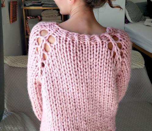 Chunky Knit Sweater Top Down Raglan Sweater Pattern In Super Bulky Yarn