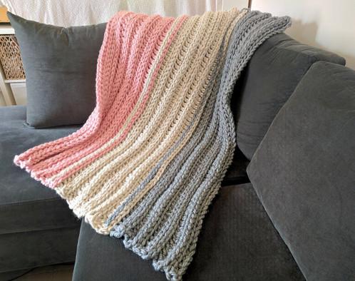 Super Chunky Crochet Blanket Pattern Ribbed Crochet Blanket