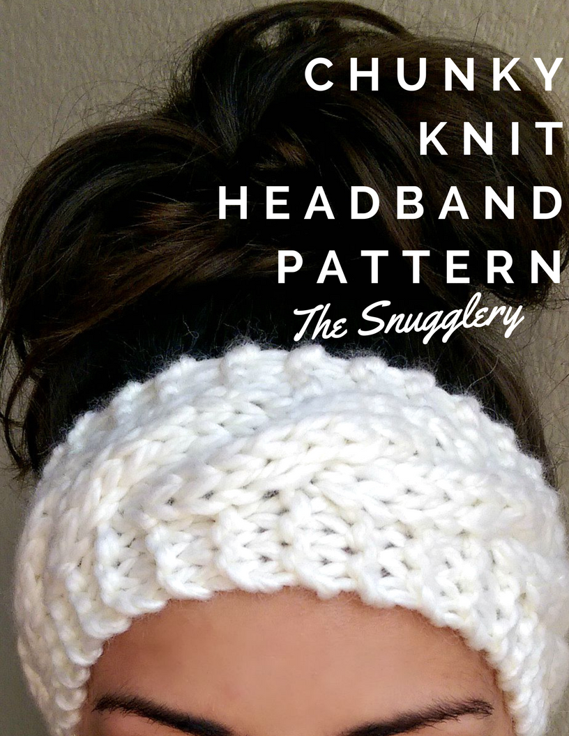 Chunky Cable Knit Headband