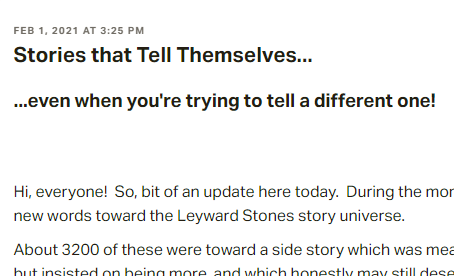 Stories that Tell Themselves