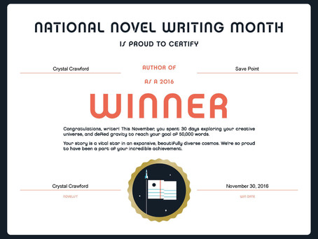 I Finished NaNoWriMo!