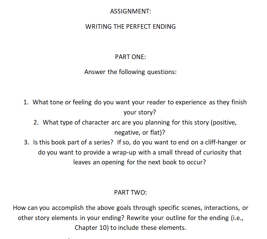 Perfect Ending - Assignment