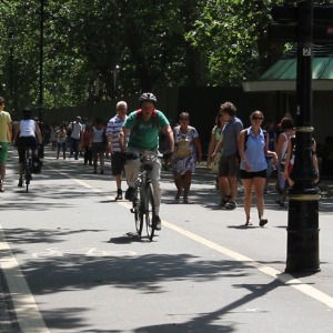 Segregated pedestrian and cycle paths in
