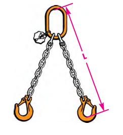 Anschlagkette 2-strängig, Güteklasse 10