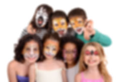 Children's group with animal face-paint