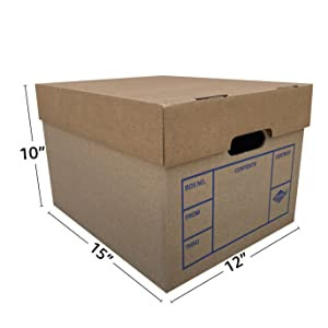 Shred boxes and bankers boxes for record storage is our bag!!