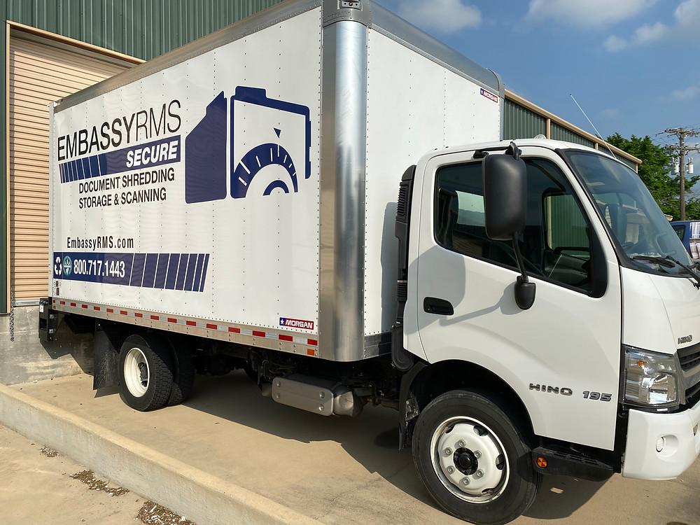 scheduled drop off shredding service near Waco Texas.