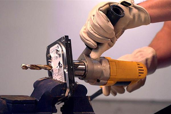 Hard drive shredding company.  Hard drive destruction service.  Hard drive drop off.