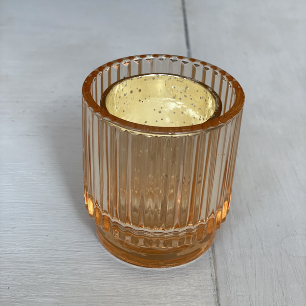 SHORT GOLD CANDLE HOLDER (QTY 10)
