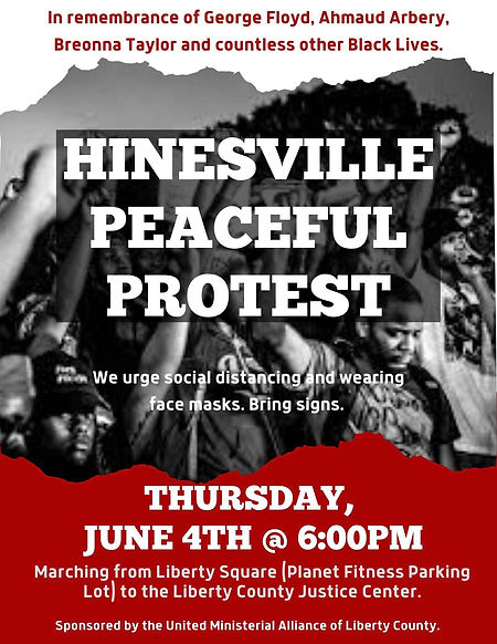 BLM Hinesville Peaceful Protest Flyer 20
