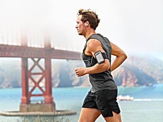 Running man - male runner in San Francis