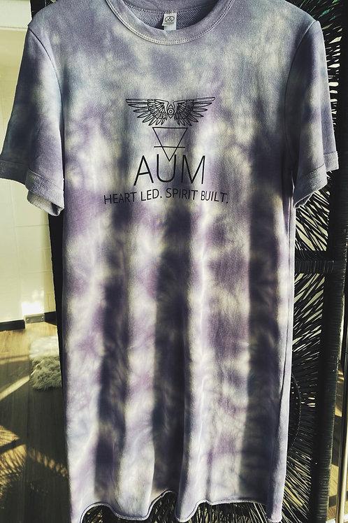 AUM Purple Tie Dye T-Shirt Dress