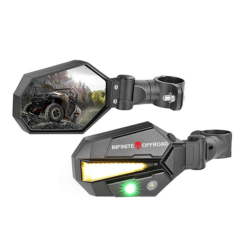 Turn Signal Mirror With Dual Color Side LED