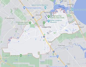 League City  - Texas - Map.png