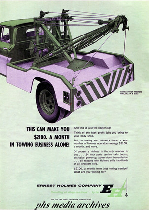 Ad-prmoting-sale-for-ernest-holmes-wrecker-trucks