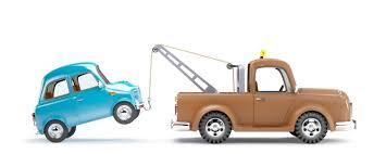 Tow truck repossessing vehicle