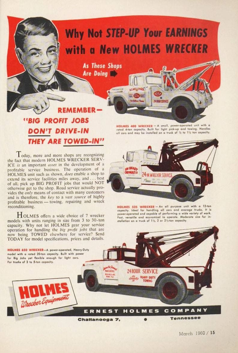 Old-Sales-Ad-for-Earnerst-Holmes-Wrecker-Truck