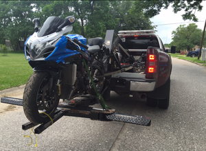 Motorcycle Repossession by Ghostbusters Towing in Channelview