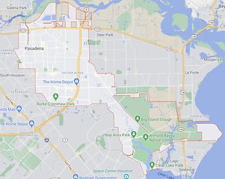 Pasadena - Texas - Map.png