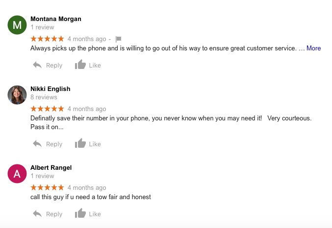 Jeff Smith Towing reviews from houstonquicktow.com