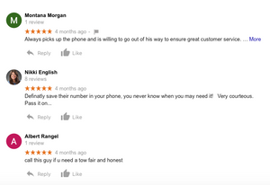 5 Star reviews for Ghostbuster Towing in Channelview Tx.
