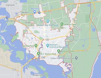 Baytown - Texas - Map.png