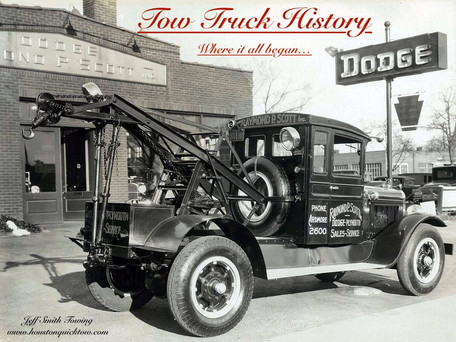 History of the Tow Truck (Where it all began)