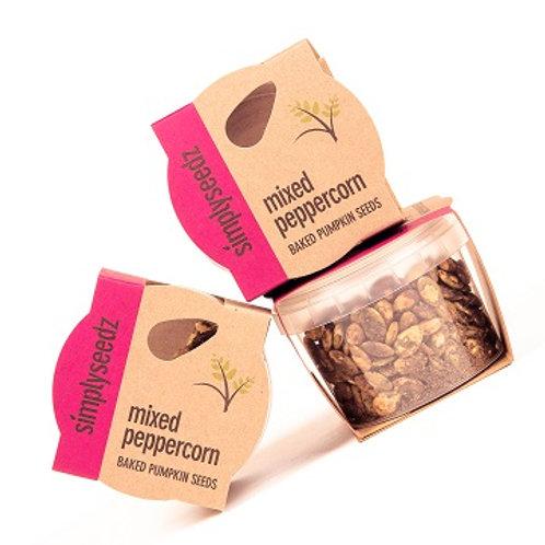 Mixed Peppercorn VEGAN Baked Pumpkin Seeds