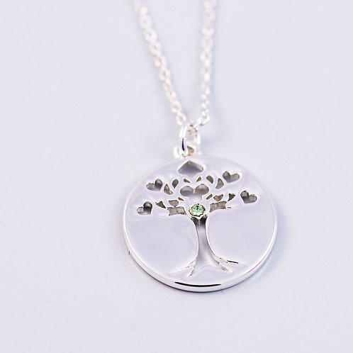 Tree of Life Necklace - Peridot August Birthstone